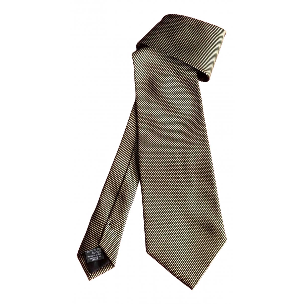 Giorgio Armani N Gold Silk Ties for Men N