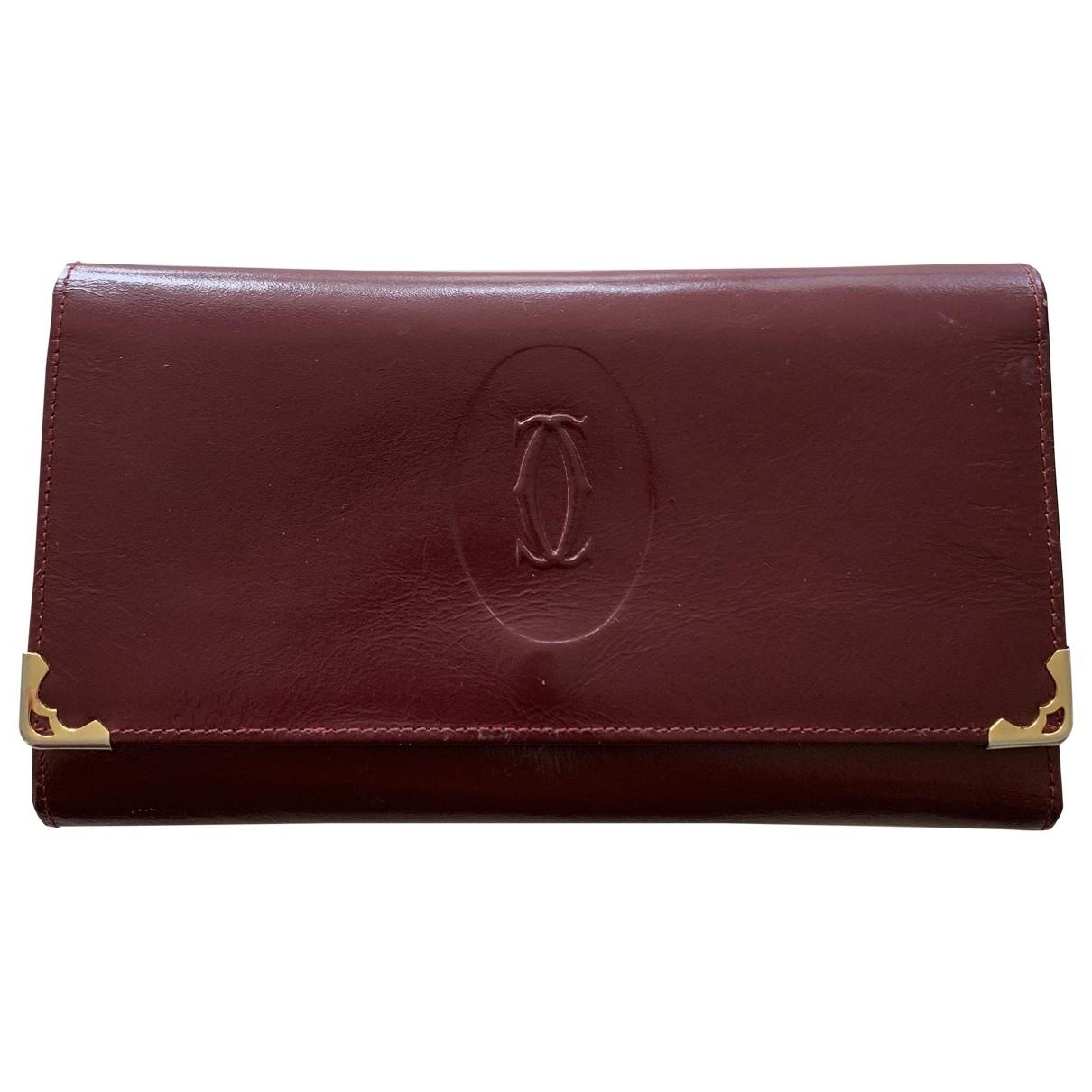 Cartier - Portefeuille   pour femme en cuir - bordeaux
