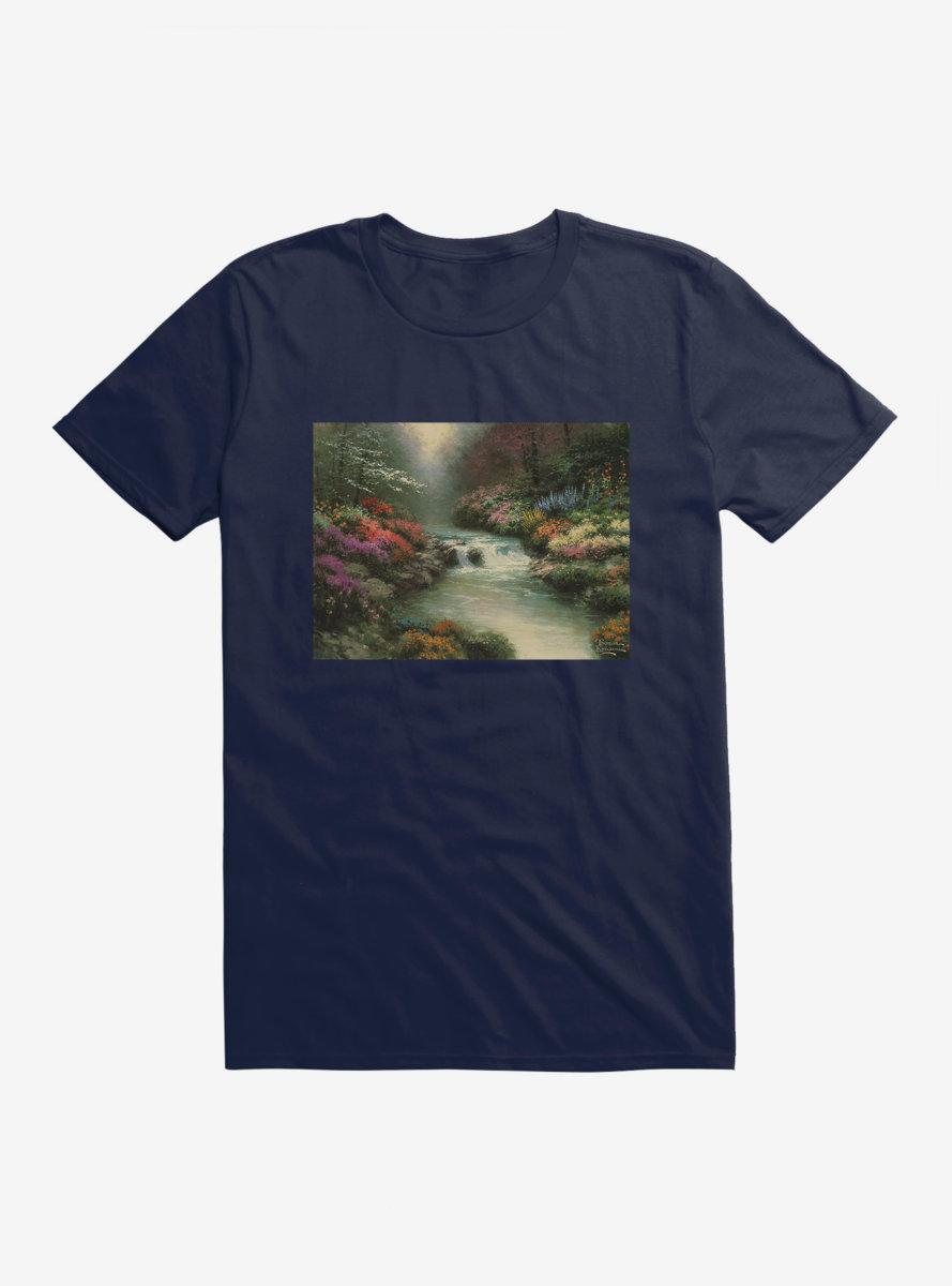 Thomas Kinkade Beside Still Waters T-Shirt