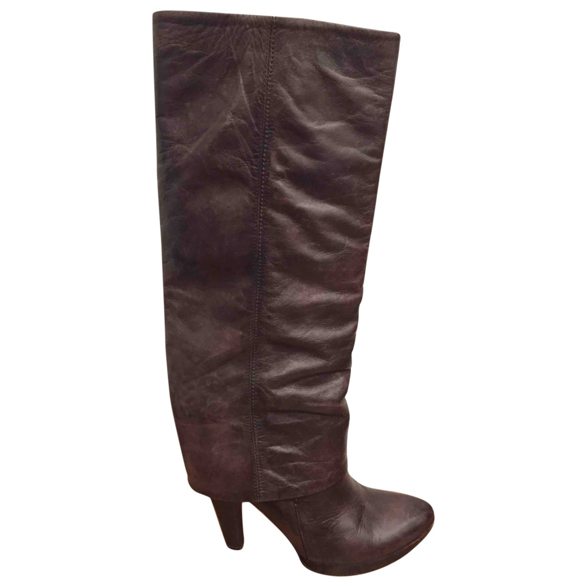 Non Signé / Unsigned \N Brown Leather Boots for Women 38 IT