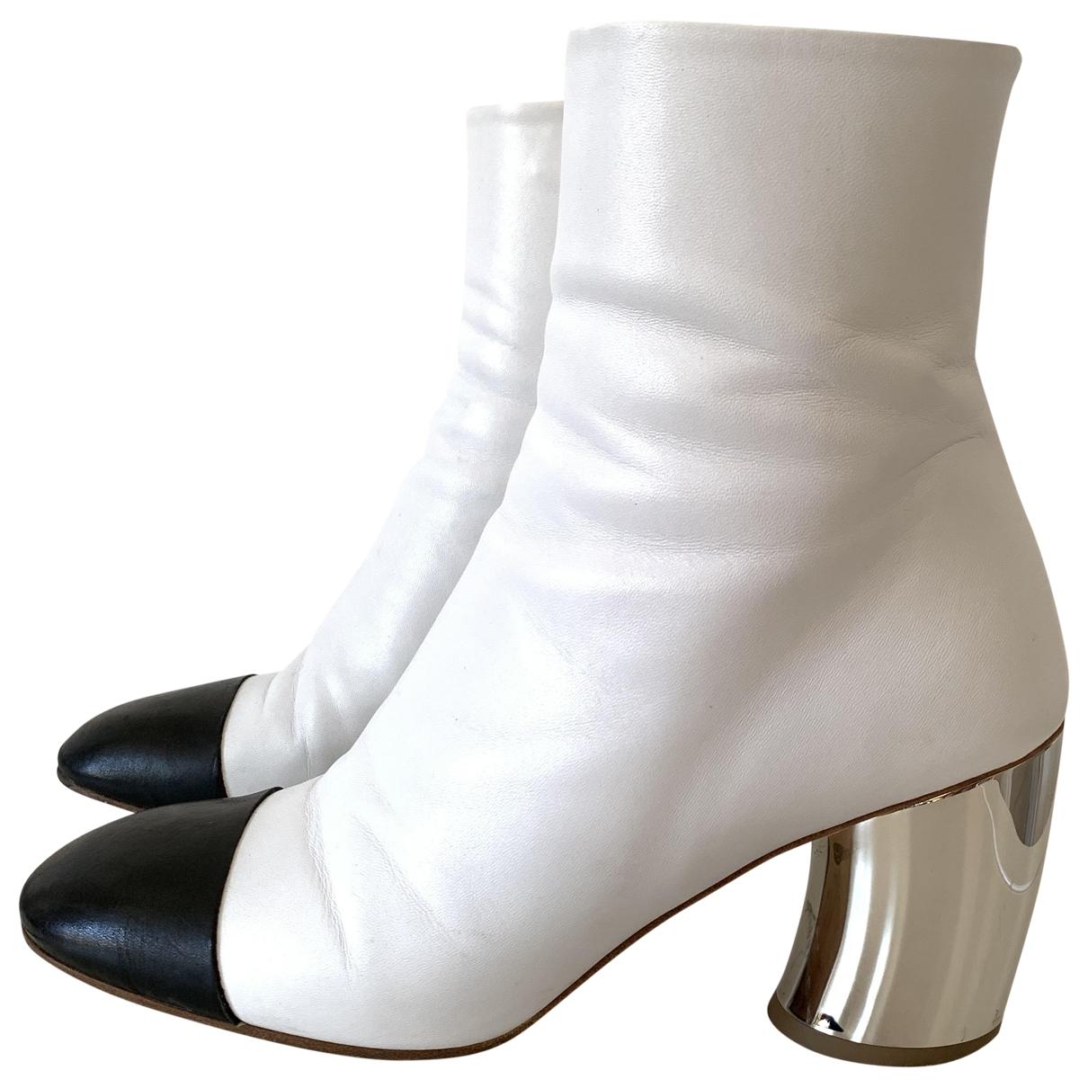 Proenza Schouler - Boots   pour femme en cuir - blanc