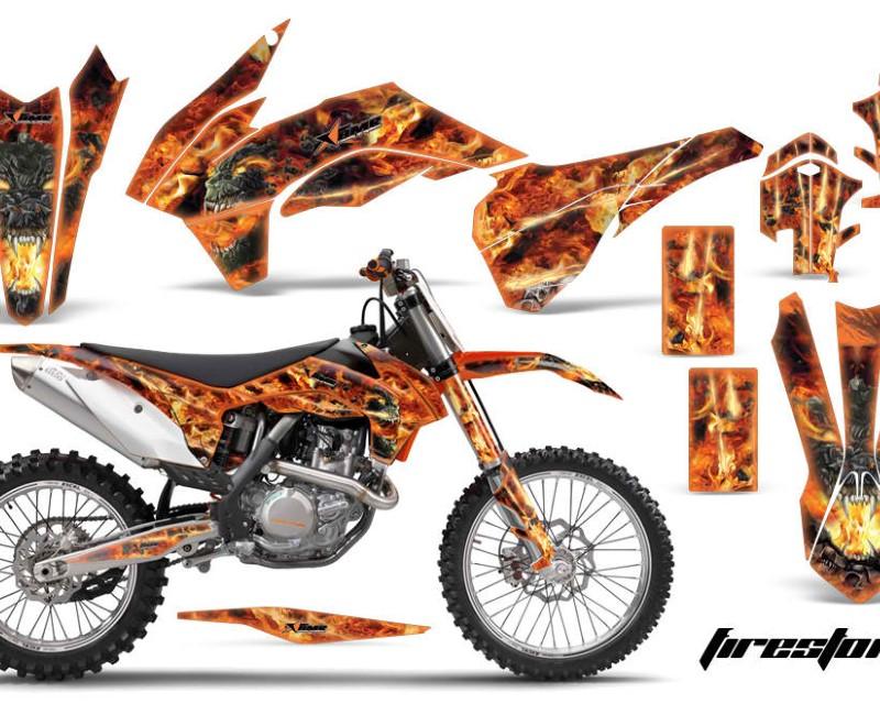 AMR Racing Graphics MX-KTM-C9-13-16-FS O Kit Decal Wrap For KTM SX/SXF/XCF/EXC/TC-F/XC/XCF-W 2013-2016áFIRESTORM ORANGE