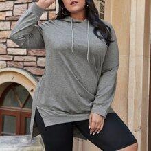 Sweatshirt mit Stufen, Kordelzug und Kapuze