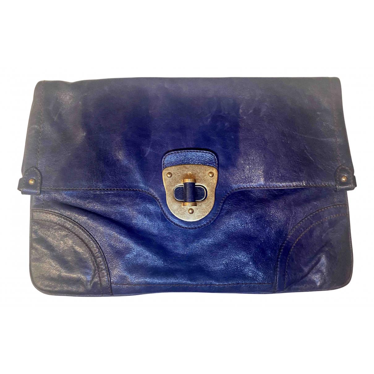 Alexander Mcqueen N Blue Leather Clutch bag for Women N