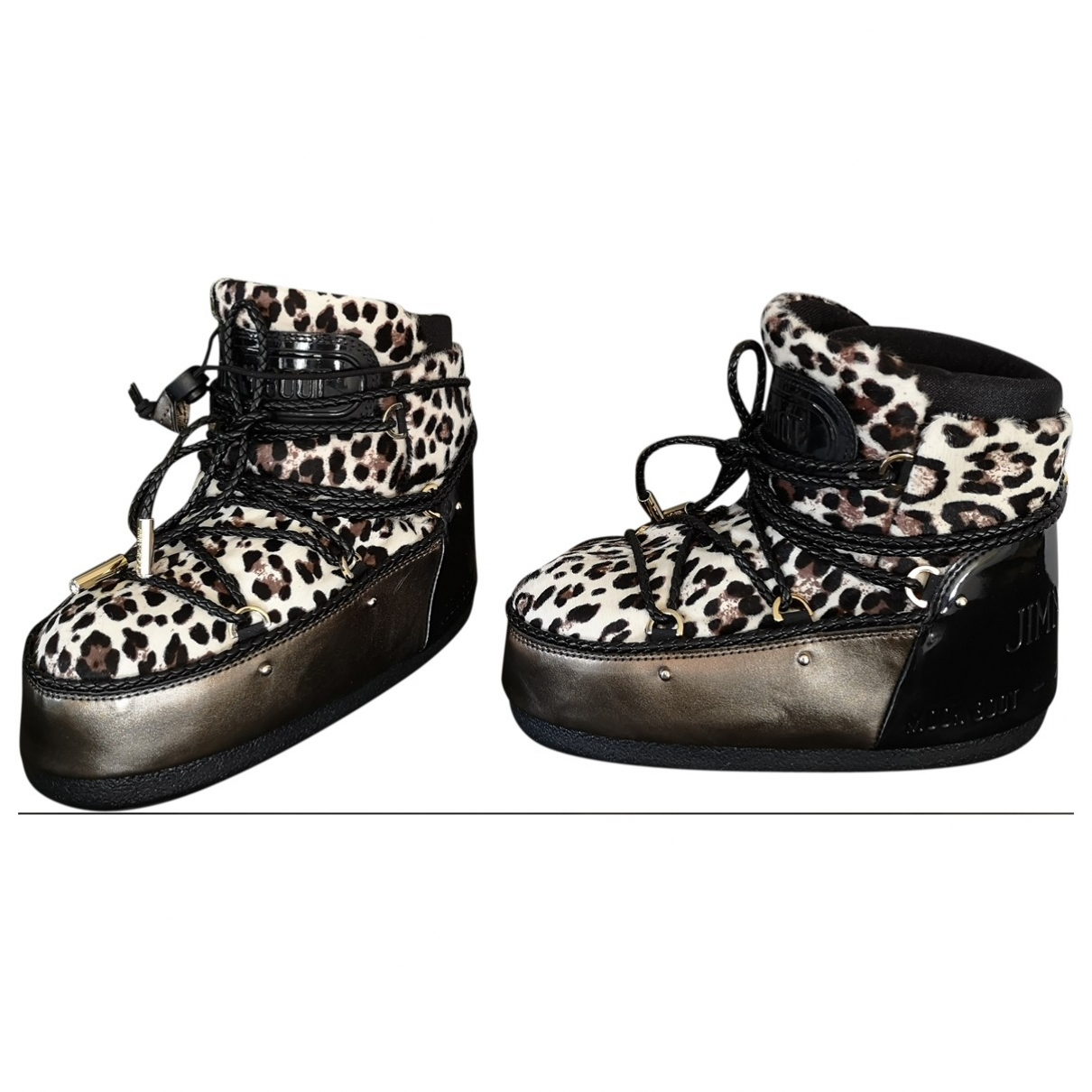 Jimmy Choo \N Multicolour Pony-style calfskin Ankle boots for Women 37 EU