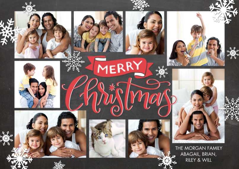 Christmas Photo Cards 5x7 Cards, Premium Cardstock 120lb with Scalloped Corners, Card & Stationery -Christmas Rustic Banner by Tumbalina