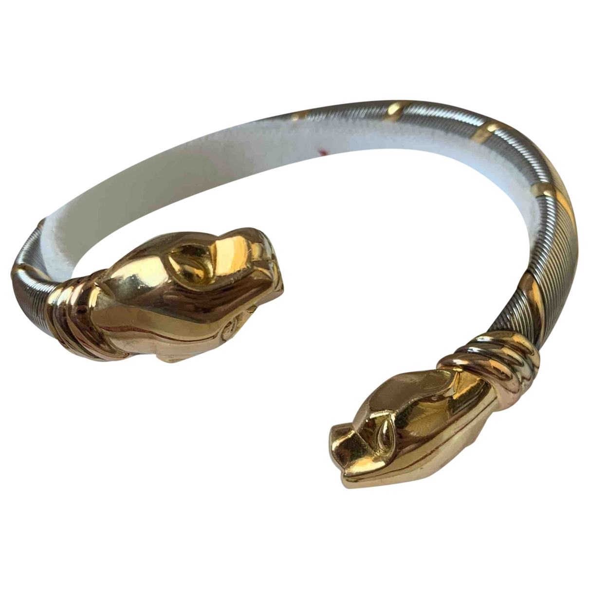 Cartier Cougar Yellow gold and steel bracelet for Women \N