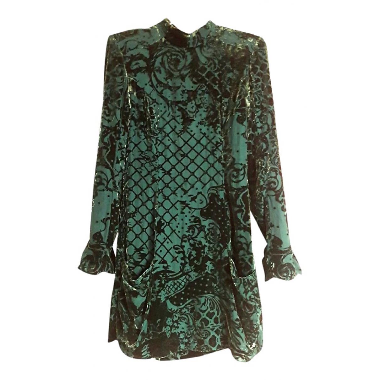Balmain For H&m \N Kleid in  Gruen Samt