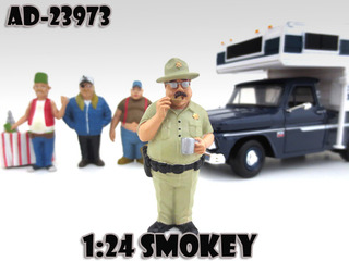 Smokey Trailer Park Figure For 124 Diecast Model Cars by American Diorama