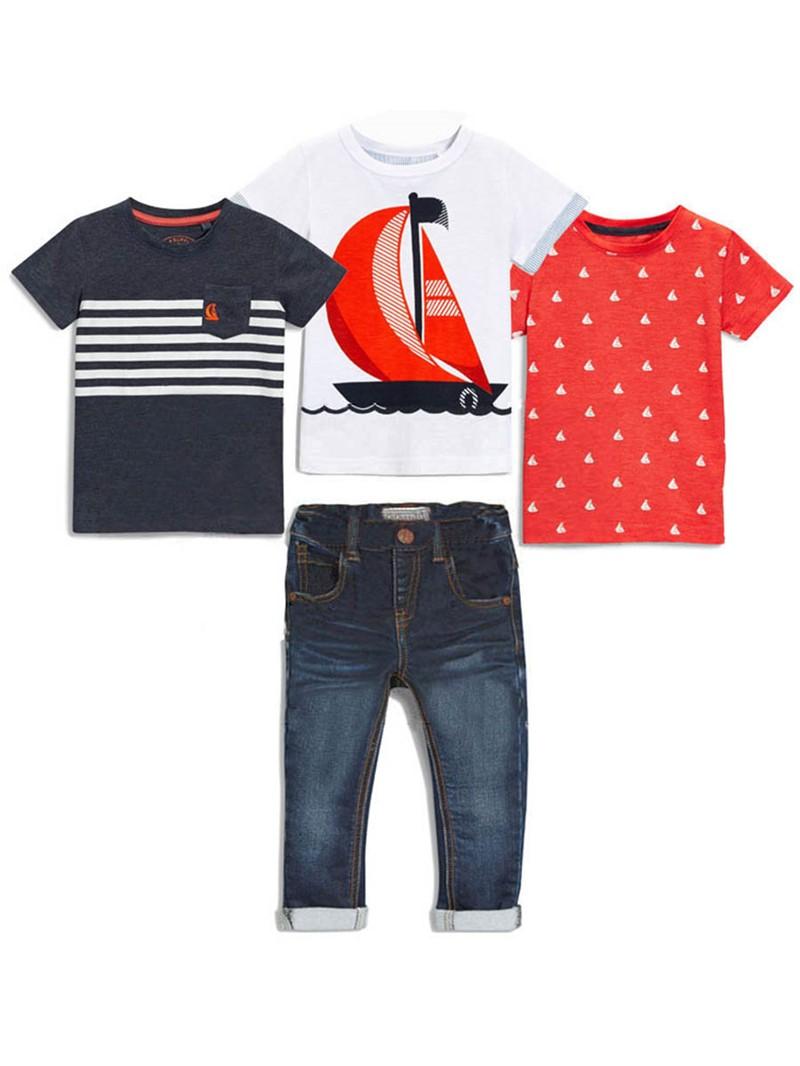 Ericdress Cartoon T-Shirt Pants Boys Outfits