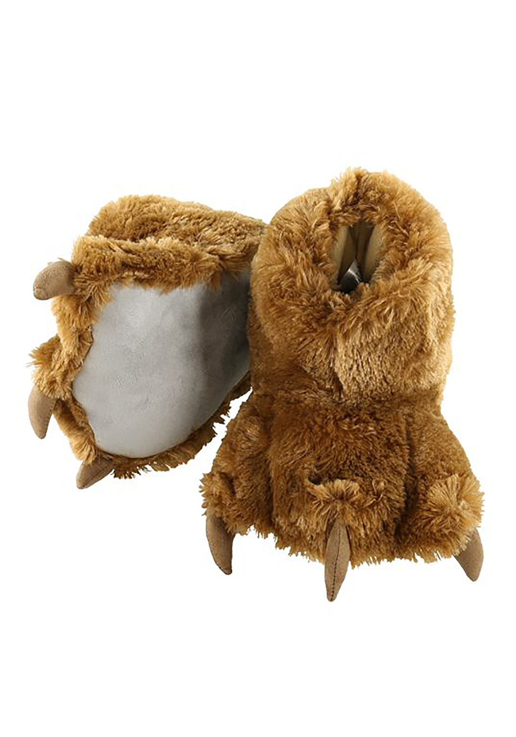 Brown Bear Paw Adult Slippers