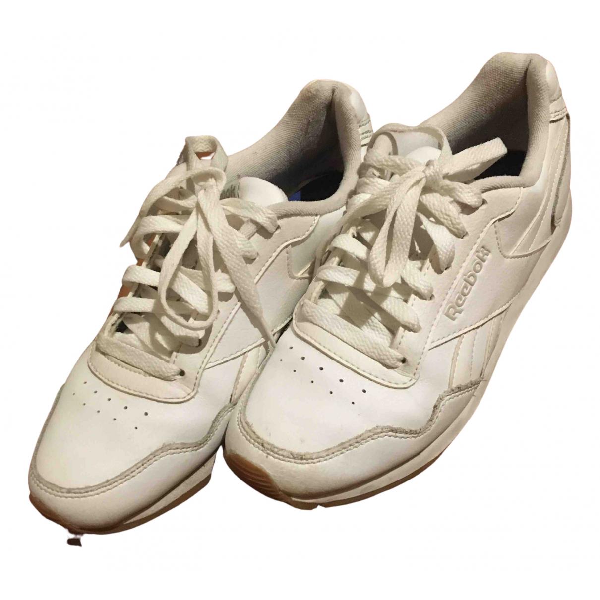 Reebok N White Leather Trainers for Women 37 EU