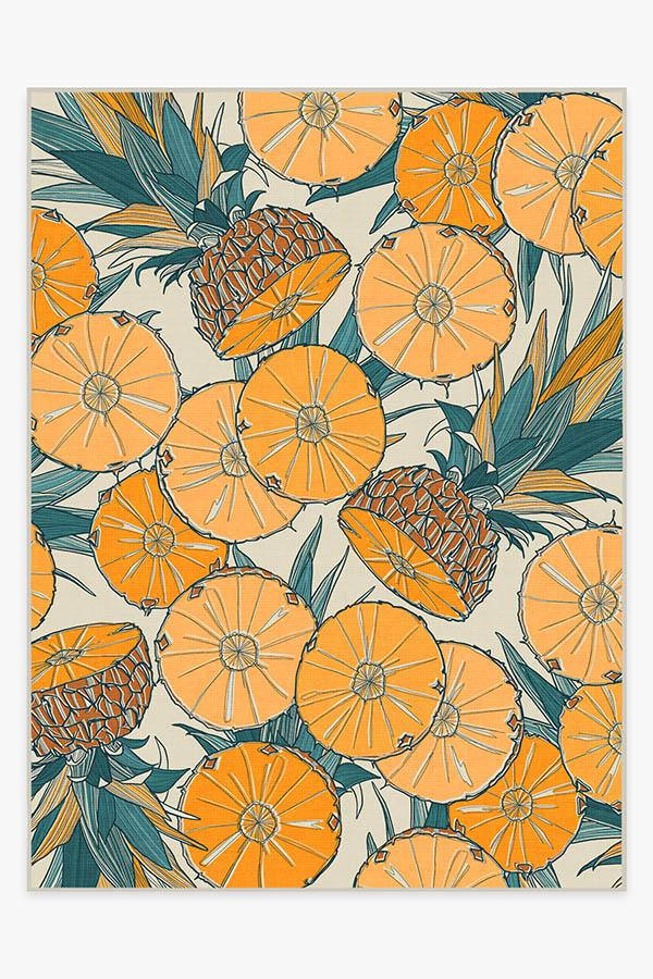 Washable Rug Cover & Pad | Tupi Tangerine Rug | Stain-Resistant | Ruggable | 9'x12'