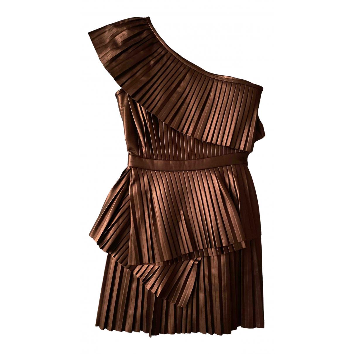 Balmain \N Kleid in  Schwarz Leder