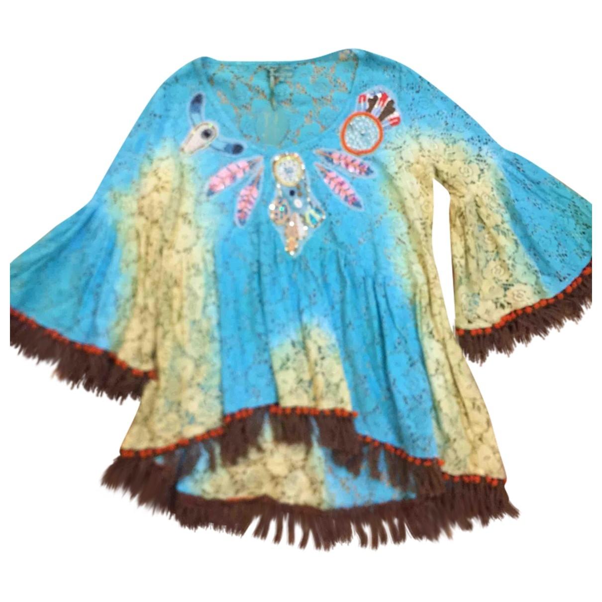 Non Signe / Unsigned \N Kleid in  Tuerkis Baumwolle