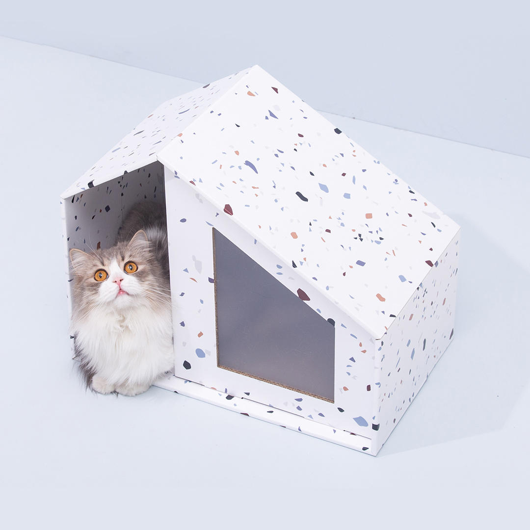 Furrytail Little House Cat Scratch Board Replaceable Renewable Paper Pet Bed from Xiaomi Youpin- White