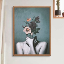 Pintura de diamante con patron floral
