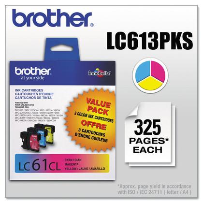 Brother LC613PKS Original Ink Cartridge Combo C/M/Y