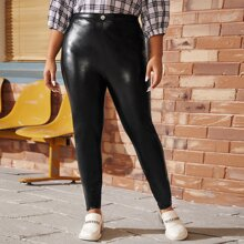 Plus Patent Leather Pants