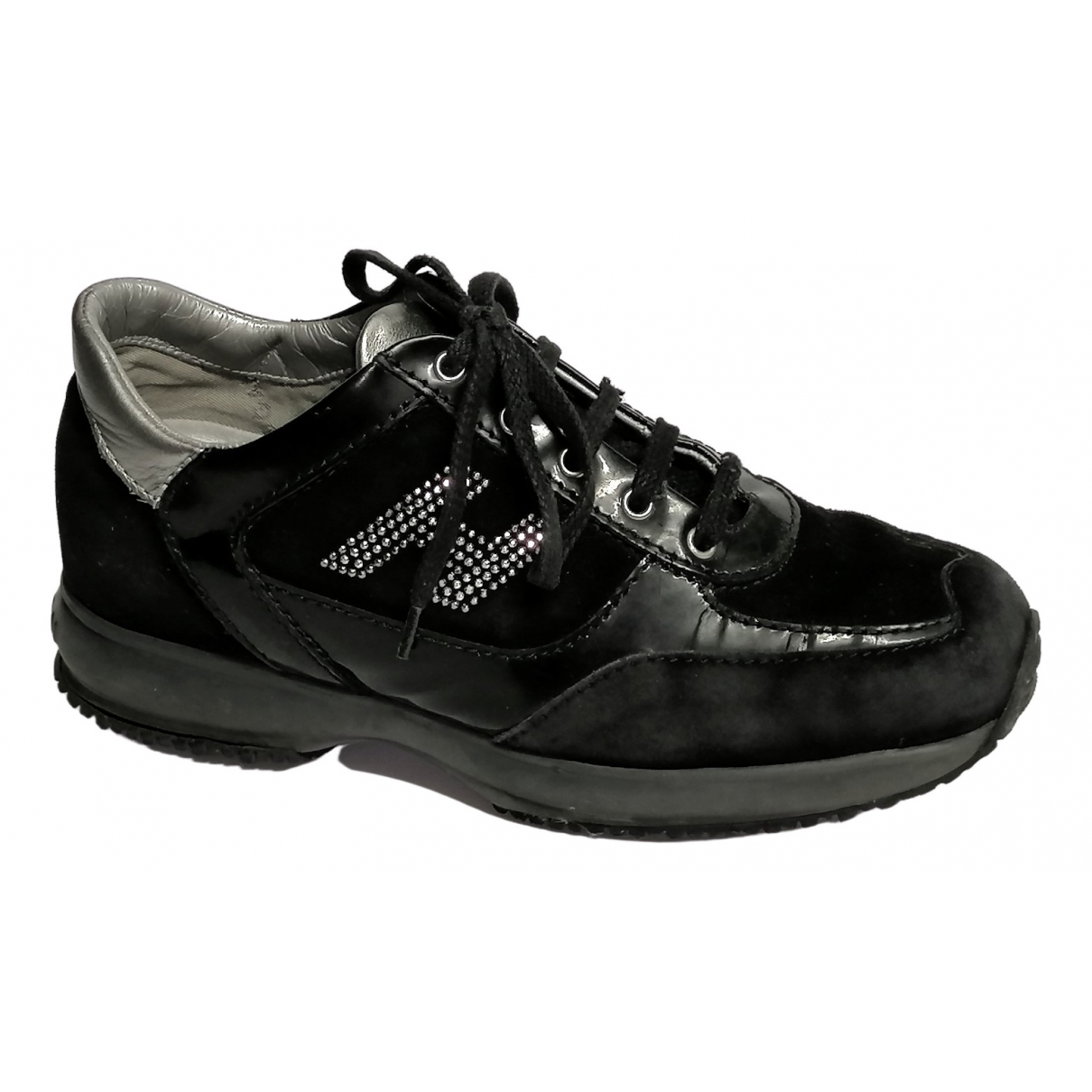 Hogan \N Sneakers in  Schwarz Leder