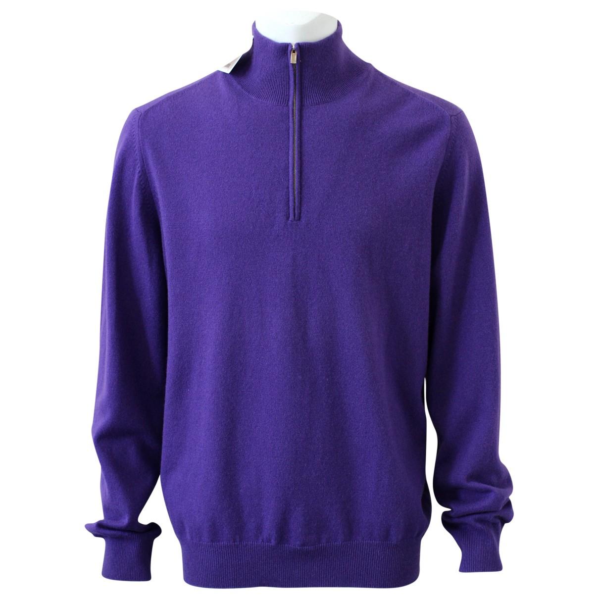 Hermes \N Pullover.Westen.Sweatshirts  in  Lila Kaschmir