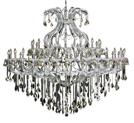 2800G72C-GT/SS 2800 Maria Theresa Collection Large Hanging Fixture D72in H60in Lt: 48+1 Chrome Finish (Swarovski Strass/Elements Golden