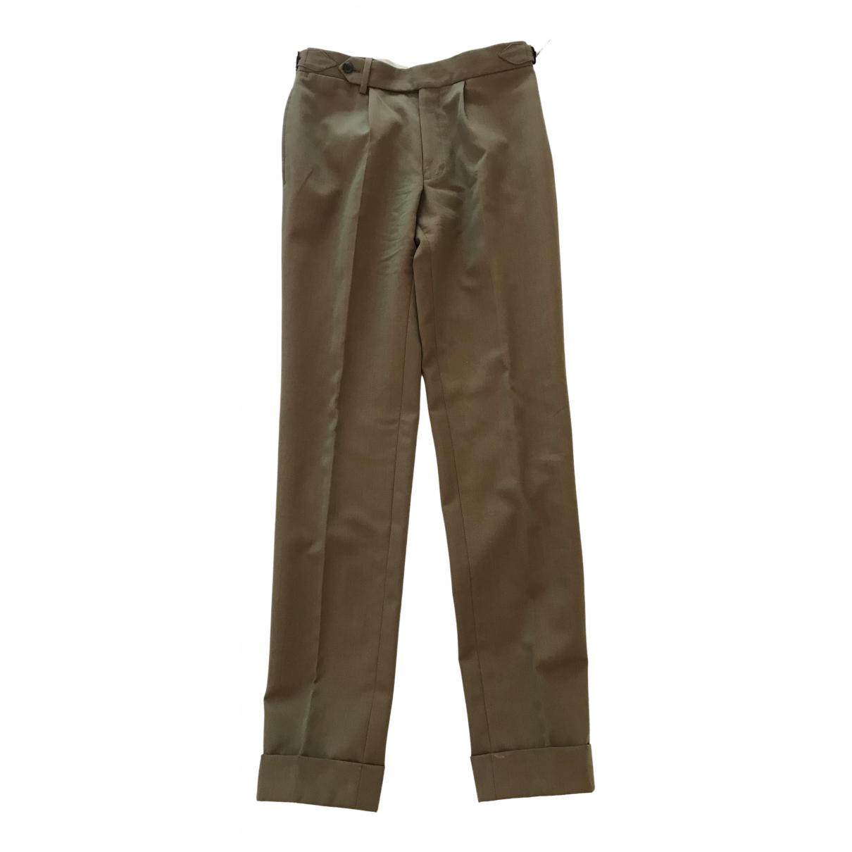 Pantalones en Algodon Beige Non Signe / Unsigned