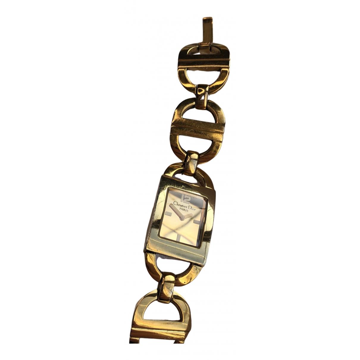 Dior - Montre   pour femme en acier - dore