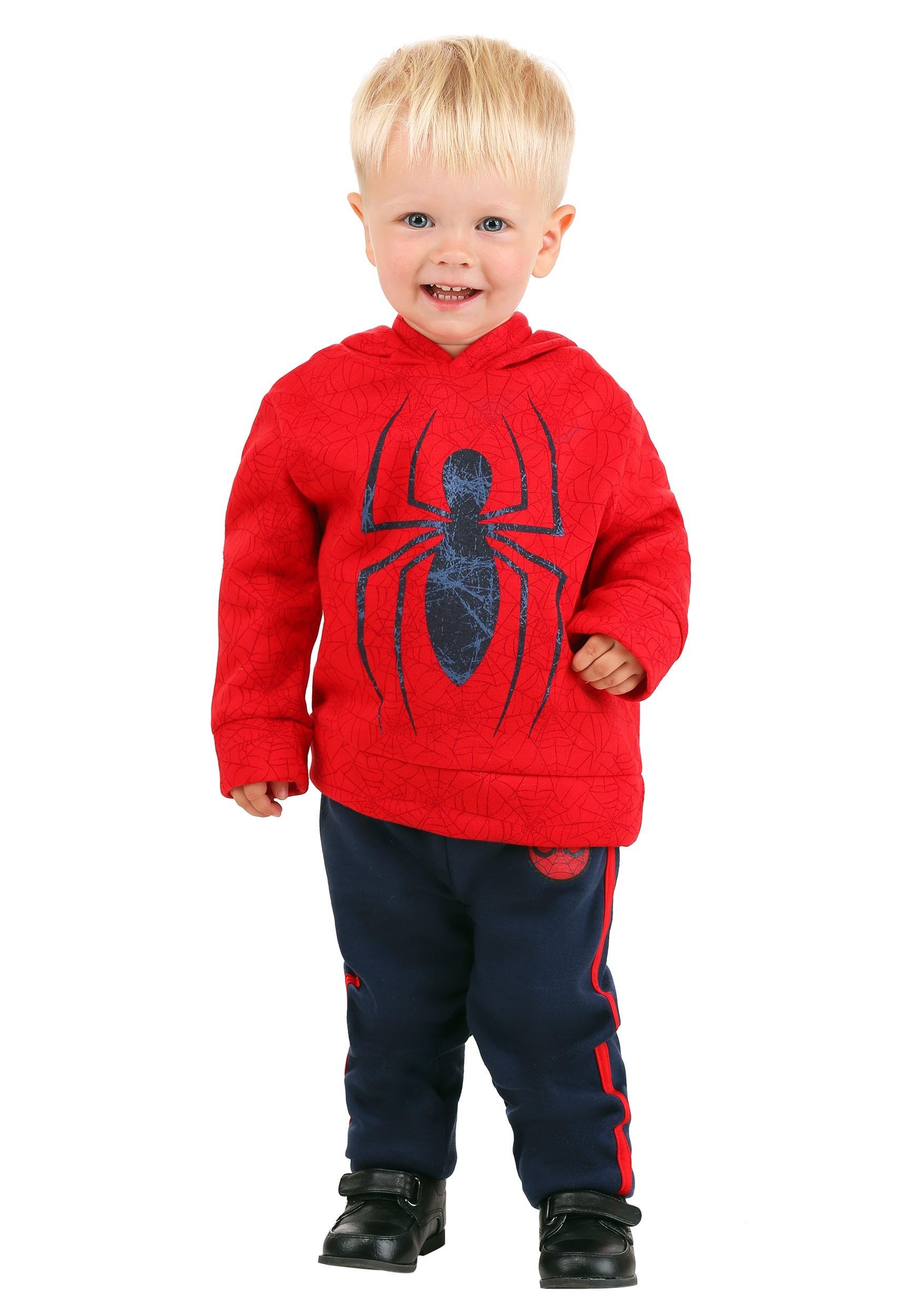 Toddler Spider-Man Pullover Hooded Sweatshirt & Pants Set