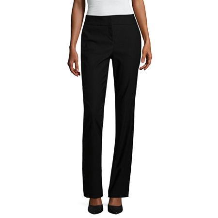 Worthington Womens Curvy Slim Pant, 8 , Black