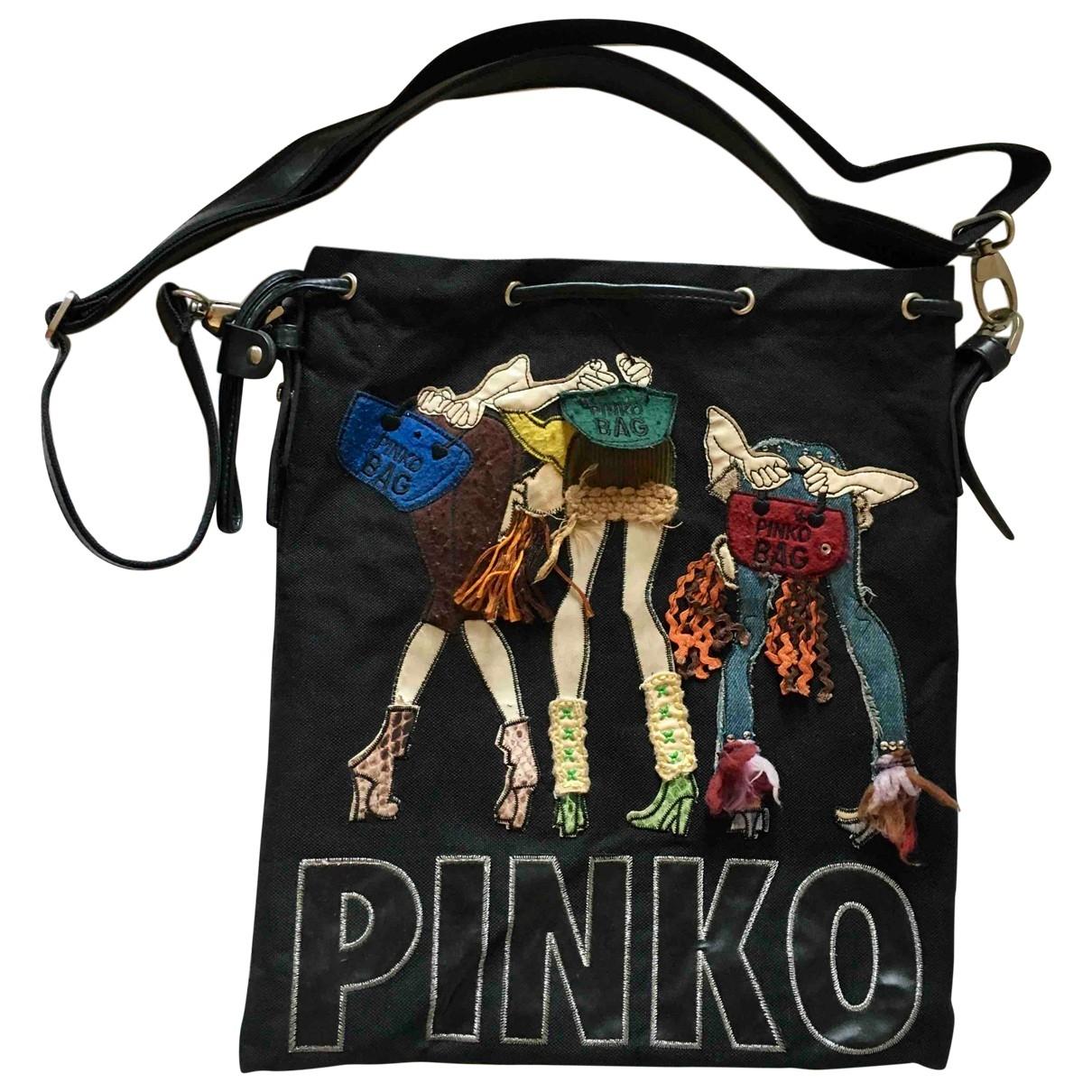 Pinko \N Handtasche in  Schwarz Baumwolle