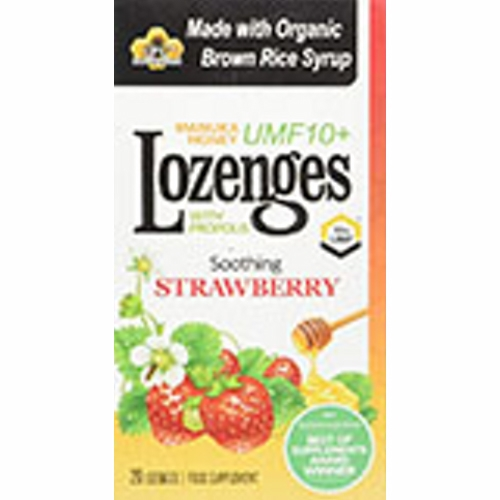 Propolis Lozenges Strawberry 20 Count by Pacific Resources