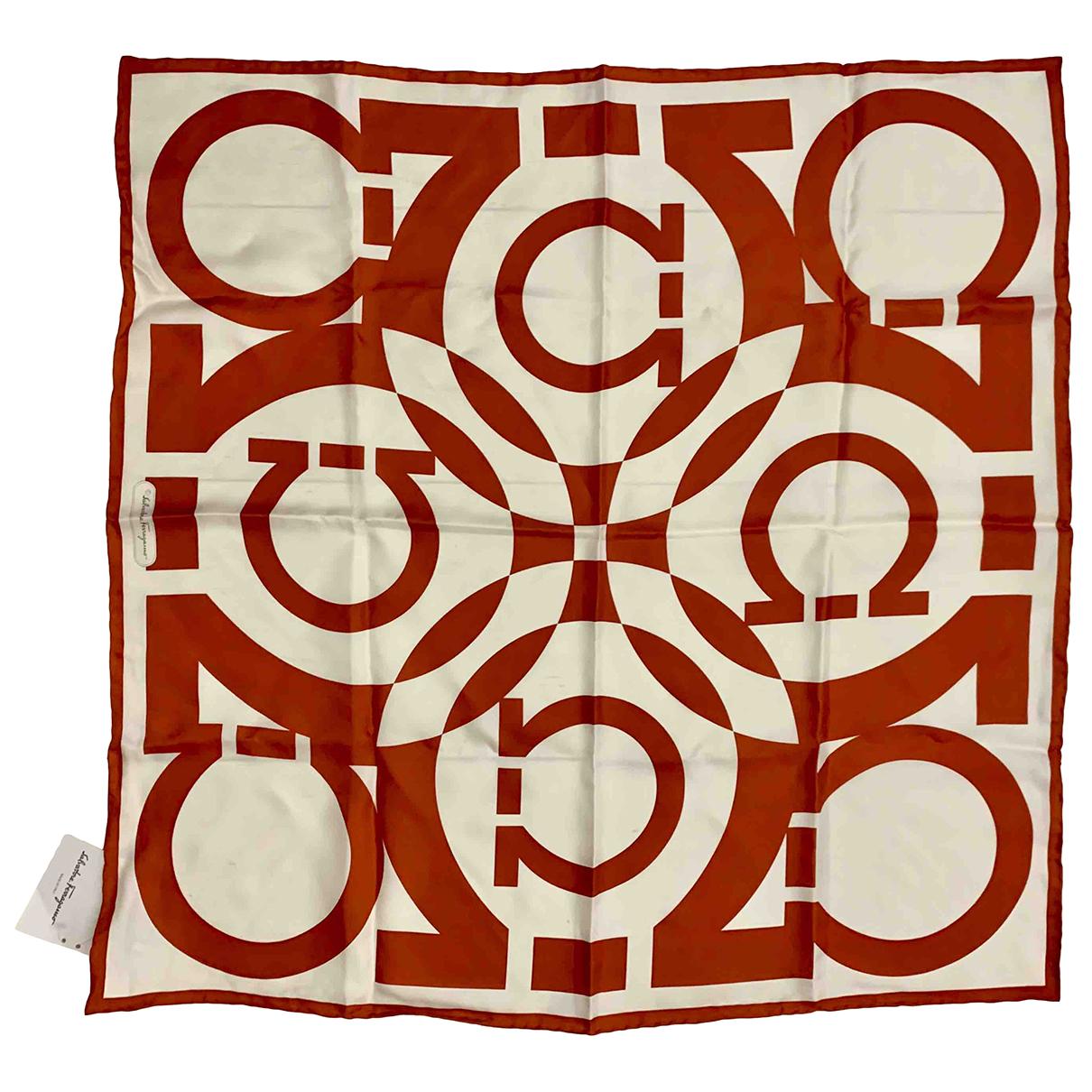 Salvatore Ferragamo N White Silk scarf for Women N