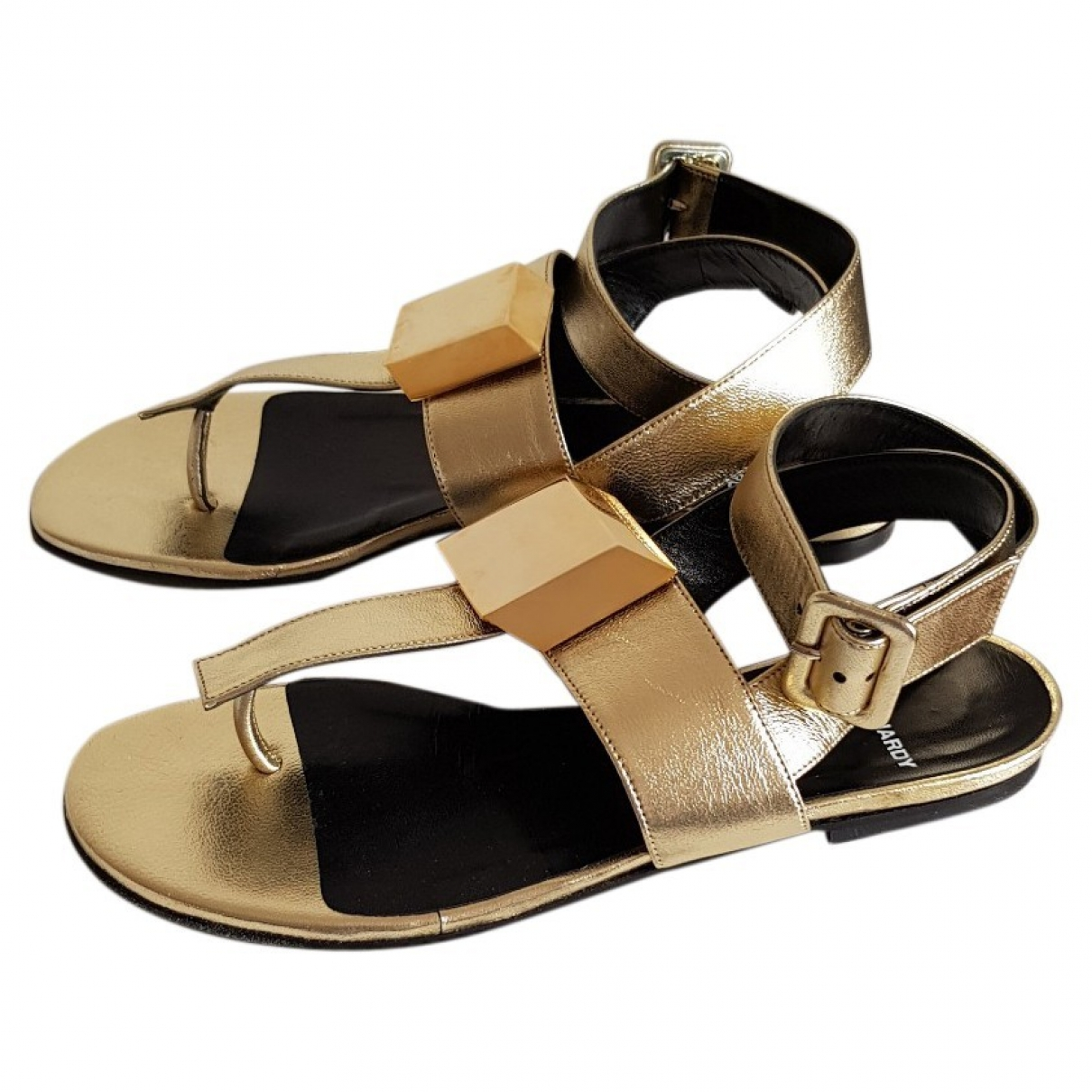 Pierre Hardy \N Gold Leather Sandals for Women 37 EU