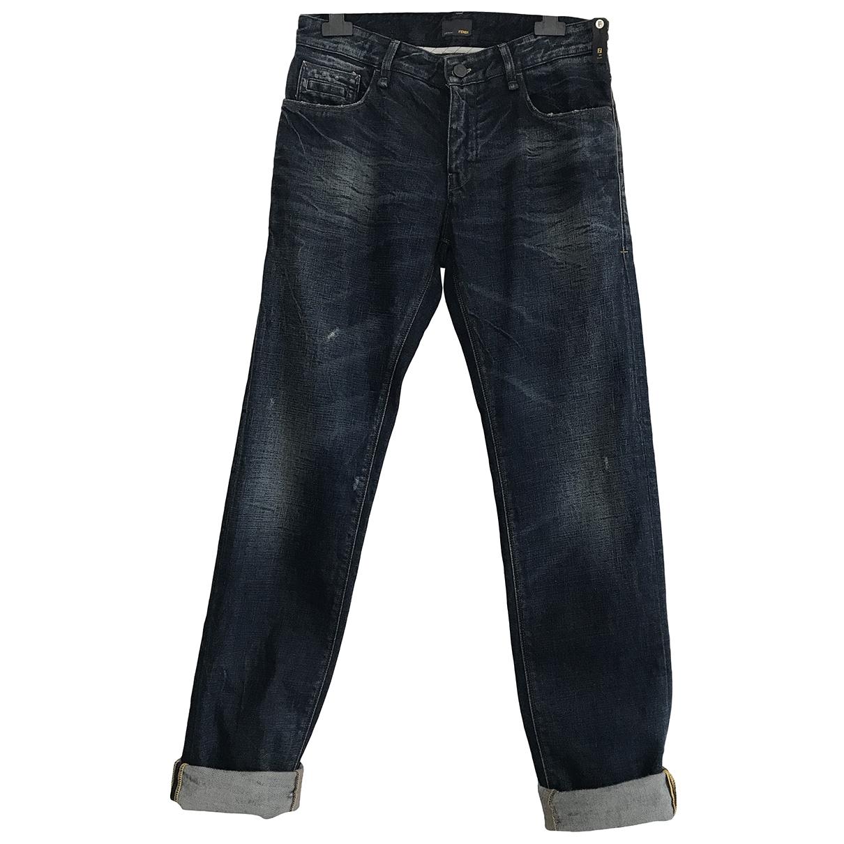 Fendi \N Blue Denim - Jeans Jeans for Women 38 FR
