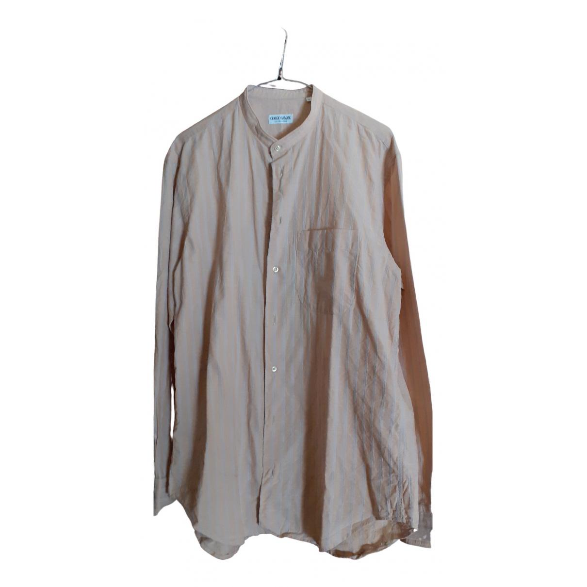 Giorgio Armani - Chemises   pour homme en coton - beige