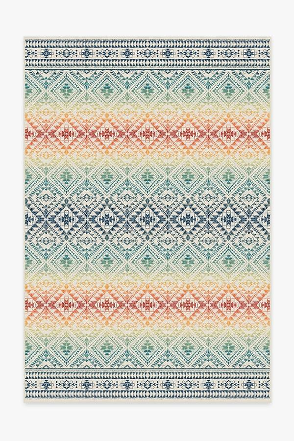 Washable Rug Cover & Pad | Outdoor Nomada Multicolor Rug | Stain-Resistant | Ruggable | 6x9