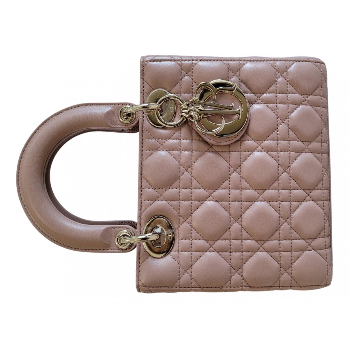 Dior - Sac a main Lady Dior pour femme en cuir - rose