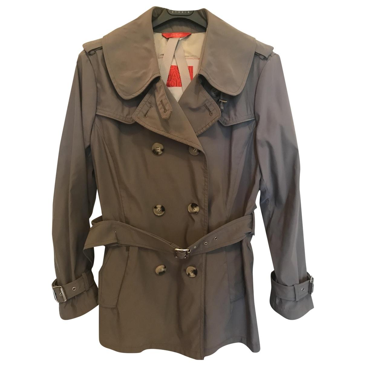 Sport Max \N Khaki Trench coat for Women 44 IT