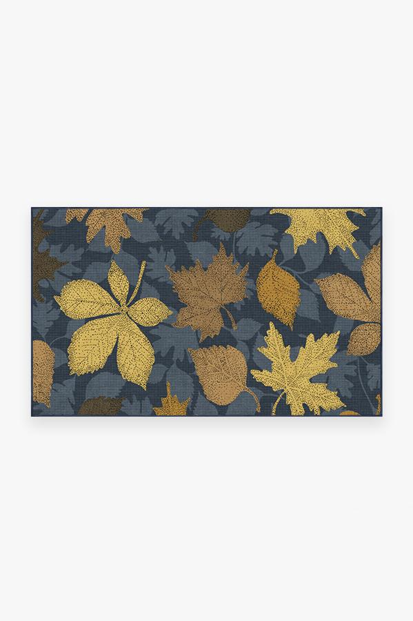 Washable Rug Cover & Pad | Jora Navy Gold Rug | Stain-Resistant | Ruggable | 3'x5'