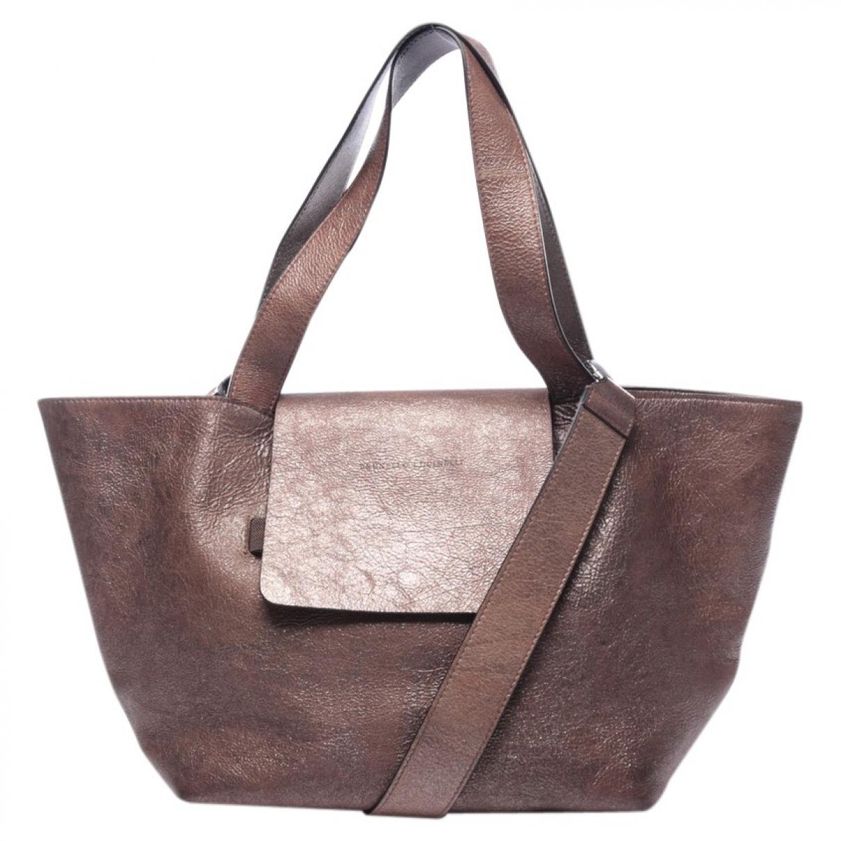 Brunello Cucinelli \N Brown Leather handbag for Women \N