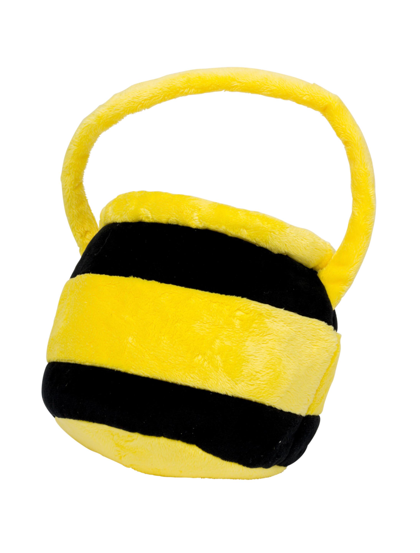 Kostuemzubehor Tasche Honigtopf Pluesch Farbe: schwarz/gelb