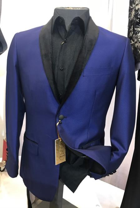 Mens Royal Blue Fancy Blazer ~ Sport Coat ~ Jacket