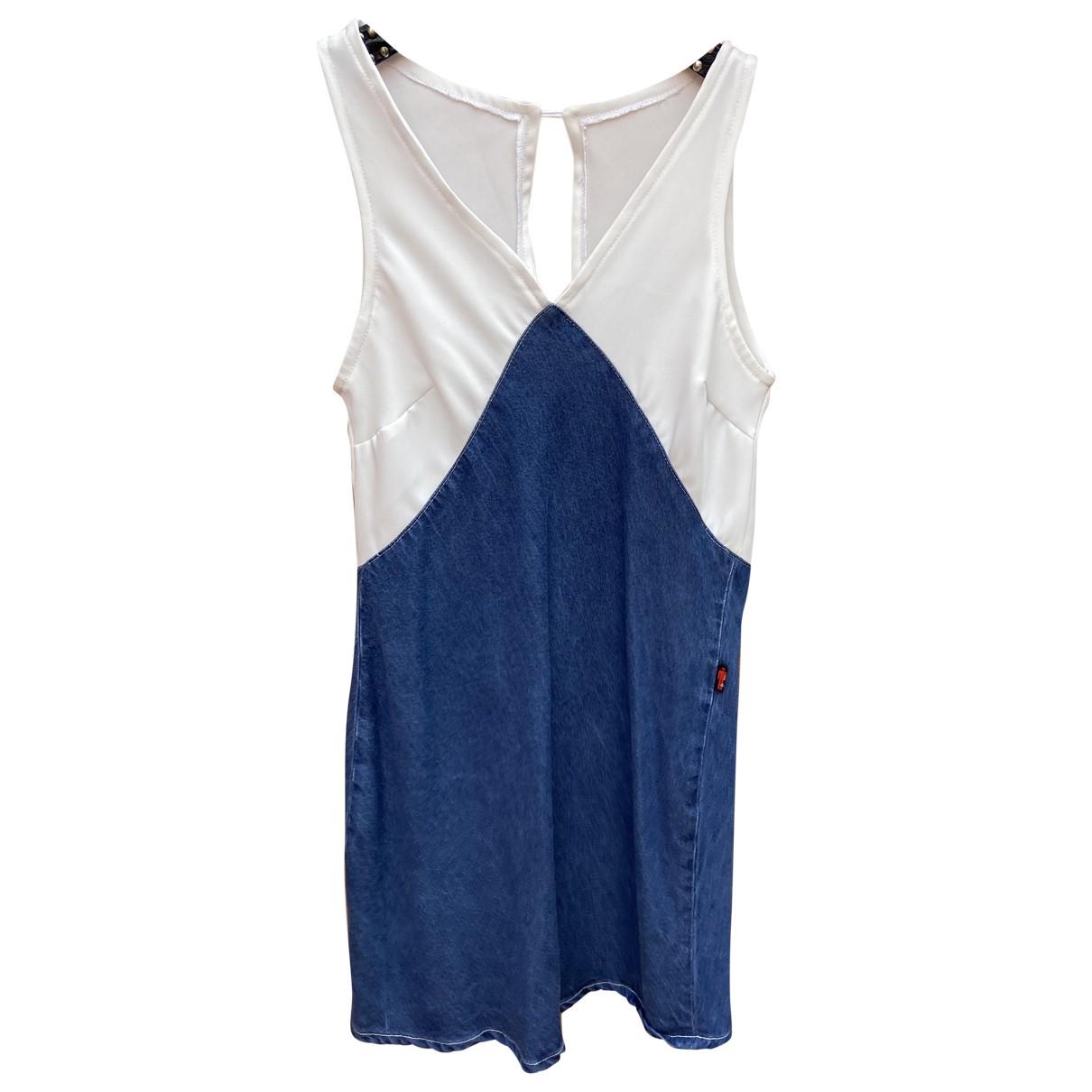 Jean Paul Gaultier \N Kleid in  Blau Synthetik