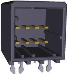 TE Connectivity , Dynamic 2000, 6 Way, 2 Row, Right Angle PCB Header