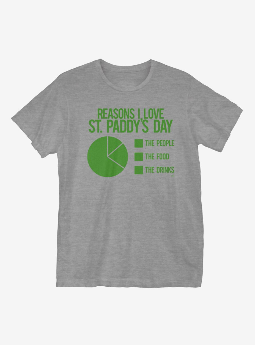 St. Patrick's Day Pie Chart T-Shirt