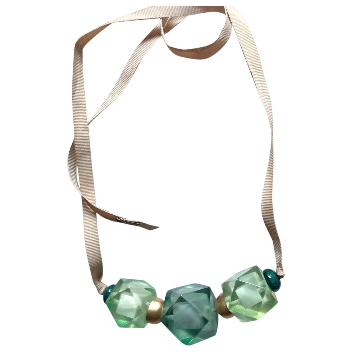 Hoss Intropia \N Green Metal necklace for Women \N
