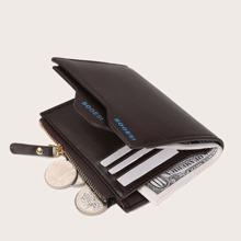 Maenner Geldborse mit Buchstaben Grafik & Kartenhalter