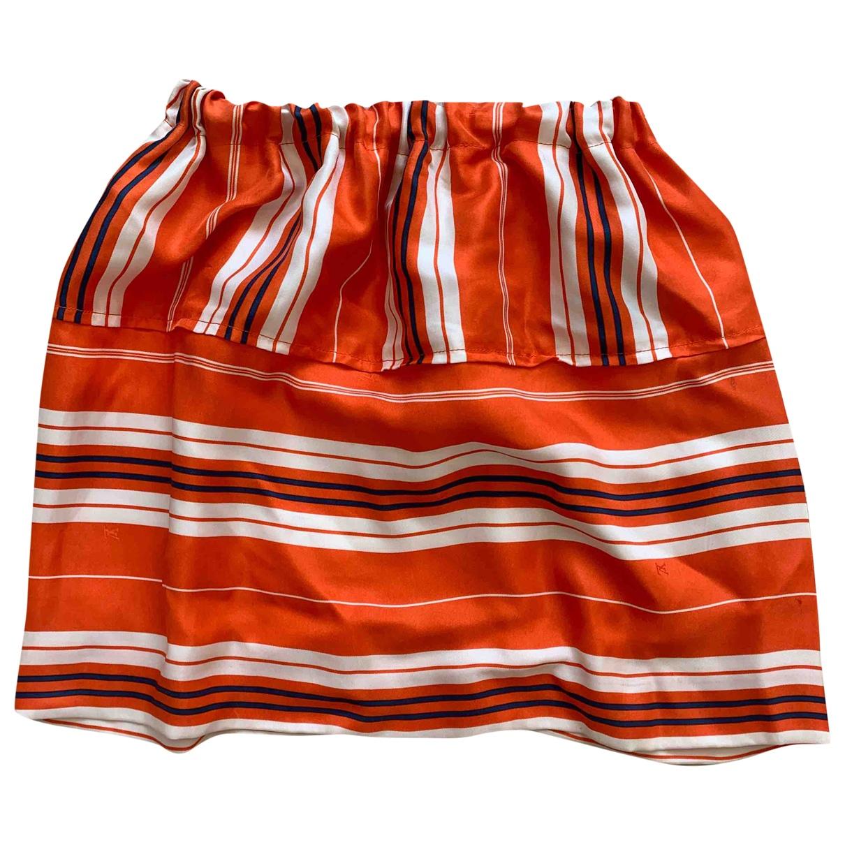 Louis Vuitton \N Orange Silk skirt for Women 34 FR