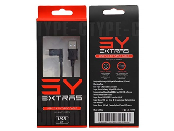 3y Extras Tesla Charging Cable Accessory